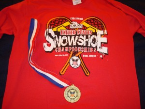 Event shirt and top-3 age group medal