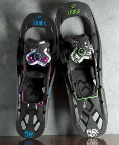 Tubbs FLEX RDG snowshoes with Boa lacing and affordability built in.