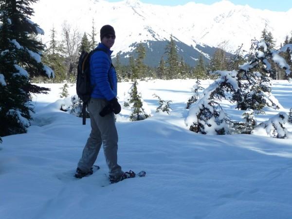 Snowshoeing Moose Meadow, Alyeska Resort