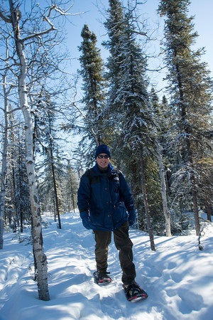 There are endless snowshoe trails in Denali