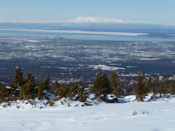 View from Flattop Mountain