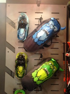 Yukon Charlie's kids snowshoe line is sold individually or as full kits.