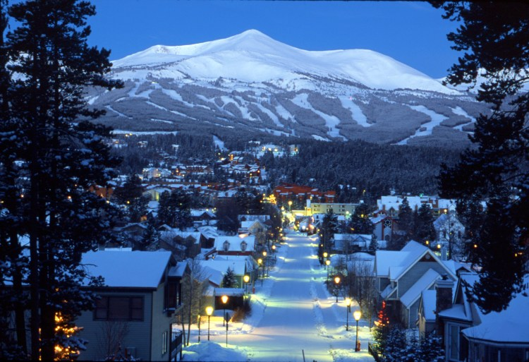 The Town of Breckenridge in the winter.  35mm