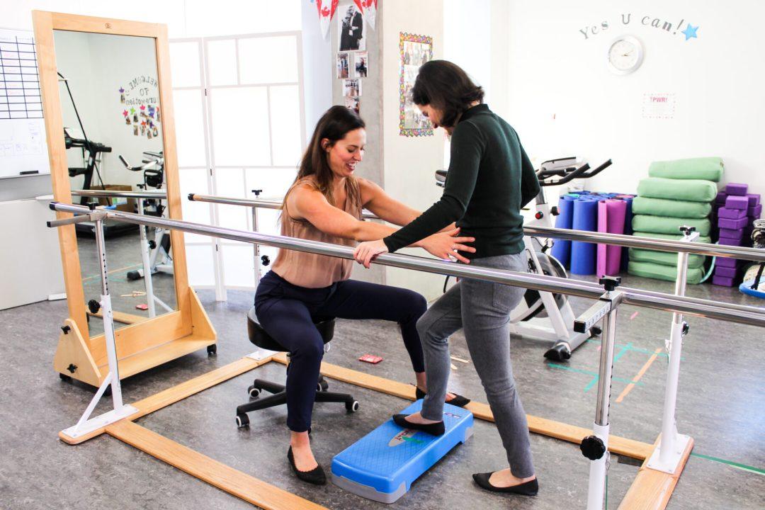 Balance board at Surrey Neuroplasticity Clinic