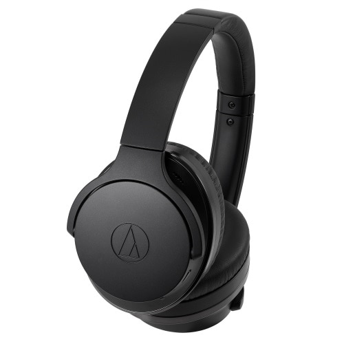 The ATH-ANC900BT QuietPoint® wireless over-ear headphones feature digital hybrid noise-cancelling technology for the highest degree of ambient noise reduction of any QuietPoint® model. This allows you to listen to music, watch videos, and take phone calls in extremely noisy locations without losing any of the detail in the sound you actually want to hear. Yet the headphones also have a switchable hear-through function that allows you to hear voices when you desire, so you can engage in conversations and hear important announcements without removing your headphones.      Product Type: Headphones - Bluetooth - wireless    Weight: 9.28 oz    Earpad Material: Memory foam    Recommended Use: Portable electronics    Max Operating Distance: 33 ft    Headphones Form Factor: Full size    Foldable: Yes    Headphones Technology: Dynamic    Connectivity Technology: Wireless    Wireless Technology: Bluetooth    Wireless Sound Enhancement Technology: SBC, AAC, aptX    Bluetooth Version: Bluetooth 5.0    Bluetooth Profiles: Hands-Free Profile (HFP), Headset Profile (HSP), Advanced Audio Distribution Profile (A2DP), Audio/Video Remote Control Profile (AVRCP)    Sound Output Mode: Stereo    Active Noise Canceling: Yes    Active Noise Canceling Technology: Hybrid ANC    Frequency Response: 5 - 40000 Hz    Max Input Power: 1000 mW    Sensitivity: 100 dB/mW    Impedance: 35 Ohm    Diaphragm: 1.6 in    Form Factor: Built-in    Microphone Technology: Electret condenser    Microphone Operation Mode: Omni-directional    Sensitivity: -44 dB    Frequency Response: 50 - 4000 Hz    Controls: Volume control, answer/end    Radio Frequency Range: 2.402 - 2.480GHz    Modulation Type: FHSS    Connector Type: Headphones (mini-phone stereo 3.5 mm 4-pole)    Detachable Cable: Yes    Cable Length: 4 ft    Cables Included: Headphones cable - detachable - L shaped - 4 ft    Included Accessories: Carrying case, airplane adapter, micro-USB cable (0.3m)    Battery: Headphone battery rechargeable - lithium polymer    Run Time (Up To): 60 hour(s)    Run Time Details:   <ul data-recalc-dims=