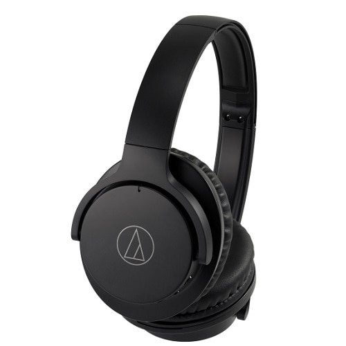 The ATH-ANC500BT QuietPoint® wireless over-ear headphones use proprietary active noise-cancelling technology to provide a comfortable listening environment in areas with high ambient noise. They also feature Bluetooth® wireless technology and have a mic and button controls built into the left earcup for convenient handling of calls, music playback and volume adjustment.      Product Type: Headphones - Bluetooth    Weight: 6.35 oz    Color: Black    Recommended Use: Portable electronics    Max Operating Distance: 33 ft    Headphones Form Factor: Circumaural    Foldable: Yes    Connectivity Technology: Wireless    Wireless Technology: Bluetooth    Wireless Sound Enhancement Technology: SBC    Bluetooth Version: Bluetooth 4.1    Bluetooth Profiles: Hands-Free Profile (HFP), Headset Profile (HSP), Advanced Audio Distribution Profile (A2DP), Audio/Video Remote Control Profile (AVRCP)    Sound Output Mode: Stereo    Active Noise Canceling: Yes    Frequency Response: 20 - 20000 Hz    Max Input Power: 40 mW    Sensitivity: 96 dB/mW    Impedance: 32 Ohm    Diaphragm: 1.6 in    In-Cord Volume Control: Yes    Form Factor: Built-in    Microphone Technology: Condenser    Microphone Operation Mode: Omni-directional    Sensitivity: -36 dB    Frequency Response: 50 - 4000 Hz    Controls: Volume, answer/end, play/pause, next/previous track    Radio Frequency Range: 2.402 - 2.480GHz    Modulation Type: FHSS    Detachable Cable: Yes    Cable Length: 4 ft    Cables Included:   <ul data-recalc-dims=