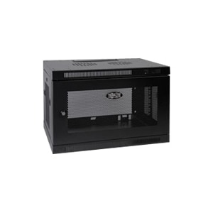 tripp lite 9u wall mount rack enclosure server cabinet w door side panels wall mount cabinet black 9u 19 inch