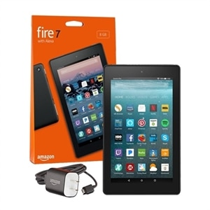 Amazon Kindle Fire 7 - 9th generation - tablet - 7-inch IPS (1024 x 600) -  microSD slot - black - with Special Offers | Dell USA
