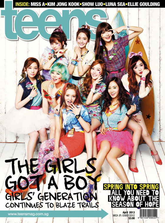 Girls Generation Singapore Teens Magazine
