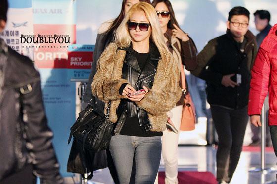 SNSD Hyoyeon Gimpo Airport to Japan fashion