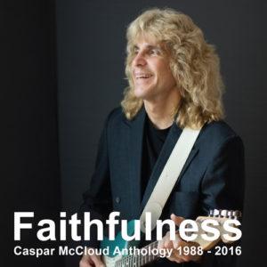 Album cover featuring Caspar McCloud holding a blue guitar.