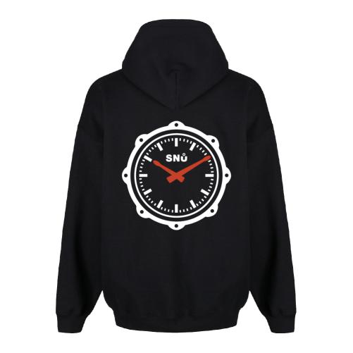 Snu Wear black drum snare drumstick hoodie watch face