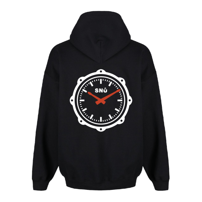 Snu Wear black drum snare drumstick hoodie watch face