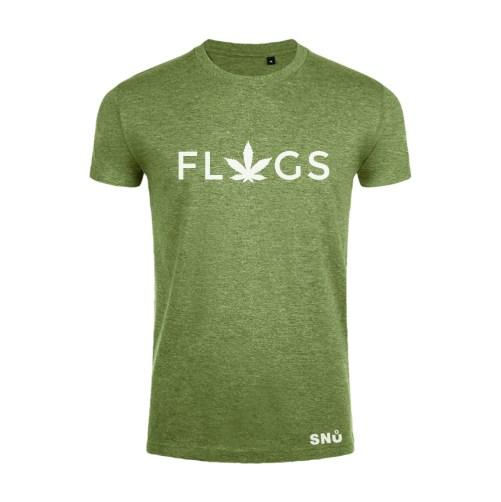 Hemp leaf flags tshirt by Snu Wear CBD tee