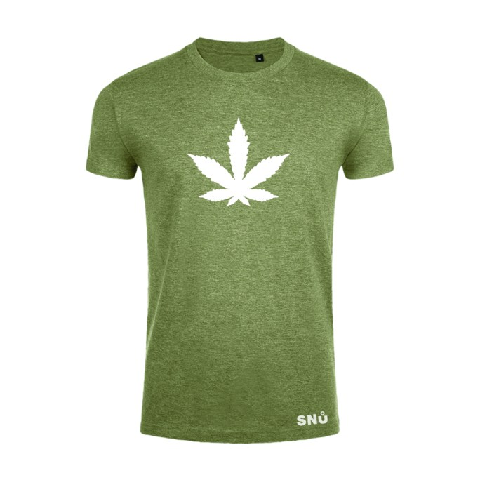 Hemp leaf cannabis tshirt by Snu Wear CBD tee