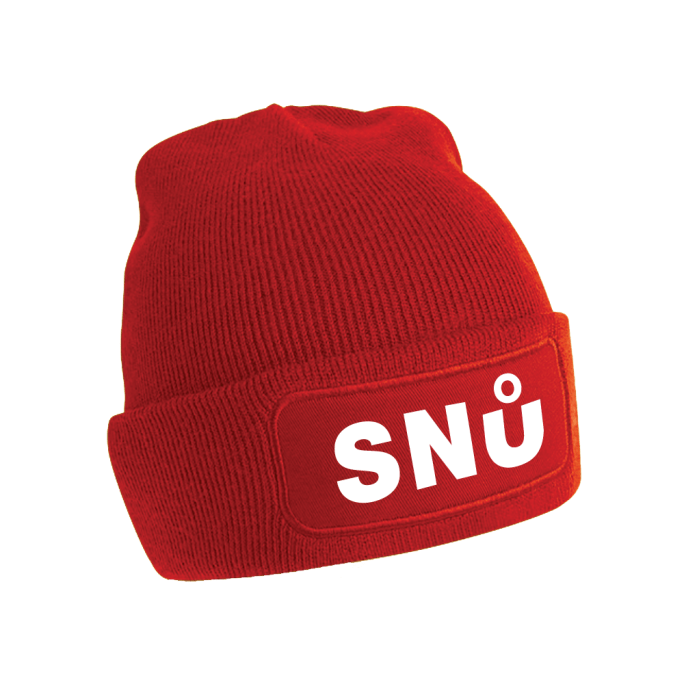 Red Snu Wear Beanie