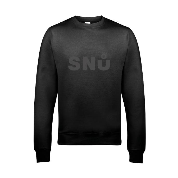 Stealth Black Sweatshirt By Snu Wear Cotton jumper