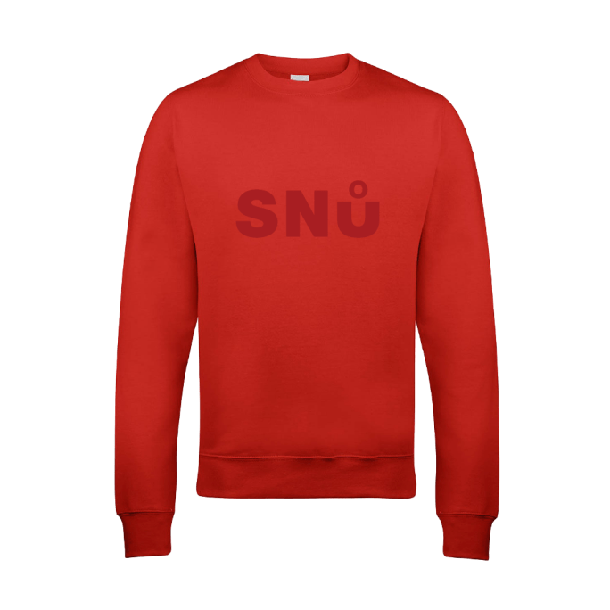 Red Stealth Sweat Shirt by Snu Wear, cotton streetwear