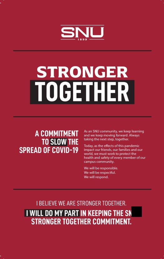 stronger together pledge from SNU