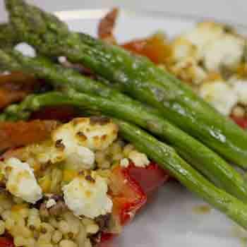 vegetarian plated dinner