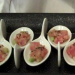 tuna passed appetizer