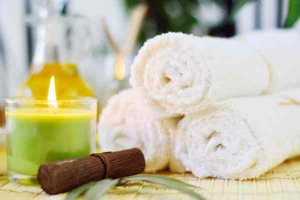 Spa Towels & Candle