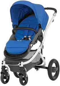 Britax Affinity Complete Stroller - Sky Blue - White