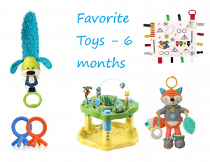 Collection of favorite toys for 6 month old