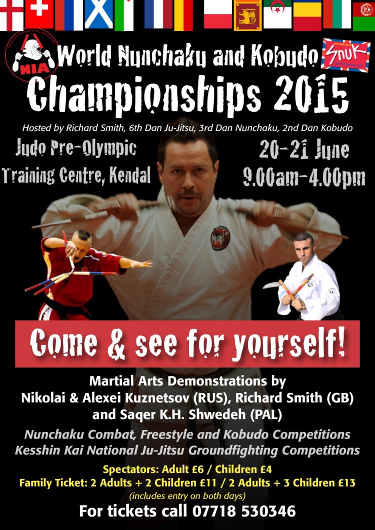 World Nunchaku-Kobudo and Ju-Jitsu Championships 20th-21st June 2015