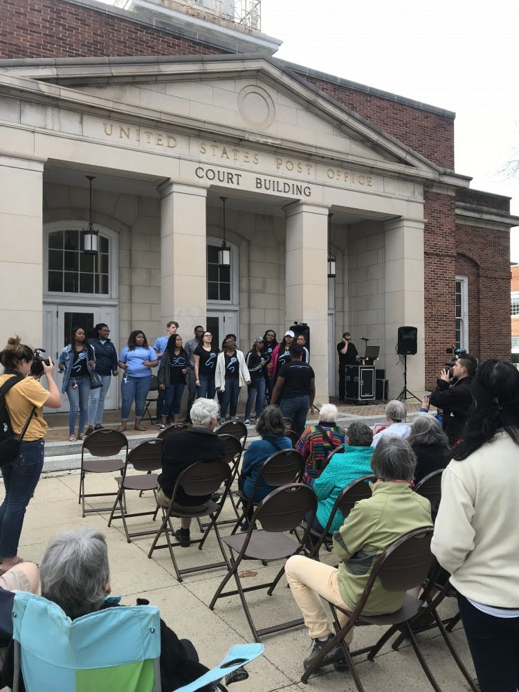 Community members commemorate legacy of Martin Luther King, discuss Silent Sam