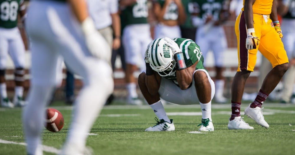 Football: Ohio defense plays well, not well enough in 26-23 loss to Central Michigan