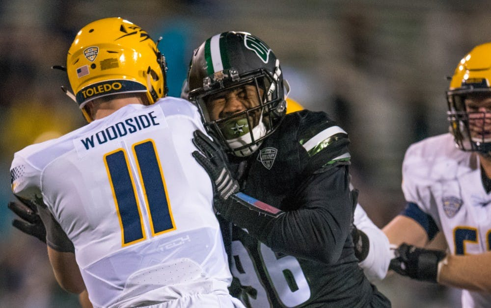 Football: Ohio defeats Toledo 38-10, defense shines against Rockets' offense