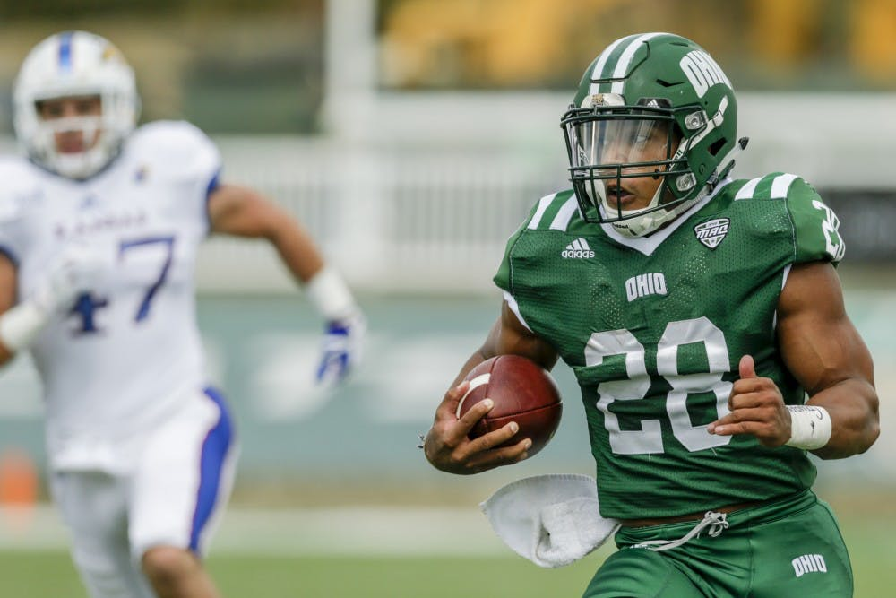 Football: Ohio defeats Massachusetts 58-50 behind stout rushing attack