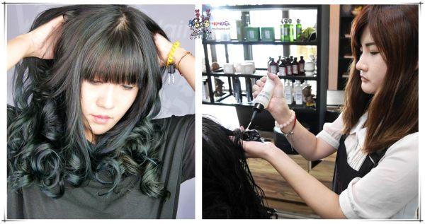 台中染髮 台中美髮 霧感髮色 霧綠色 台中vs hair
