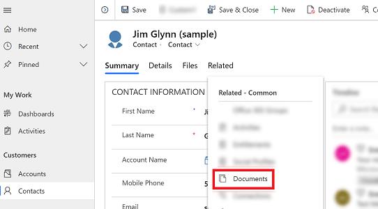 Dokumentenablage am Kunden in Microsoft Dynamics CRM