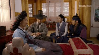 獄中花第12話 キム氏夫人を診る医員とオンニョ、ユン・テウォン
