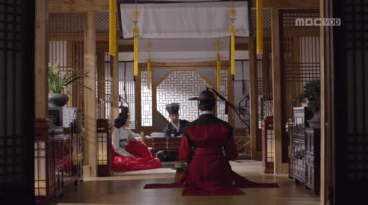 獄中花第10話 ユン・ウォニョンと話すソン・ジホン