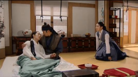 獄中花第14話 キム氏夫人を看取るユン・テウォンとオンニョ