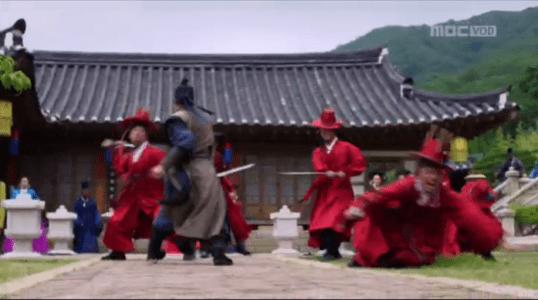 獄中花第17話 戦うユン・テウォンと男たち