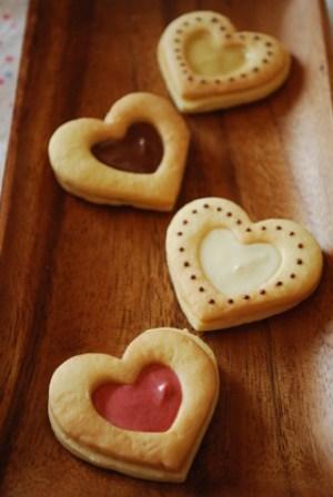 バレンタイン ハートチョコクッキーサンド