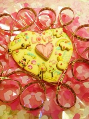 バレンタイン ハートパズルクッキー レシピ