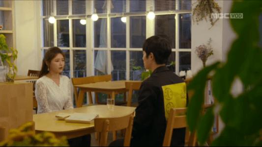 吹けよ、ミプン第11話 喫茶店で会うチョ・ヒドンとパク・シネ