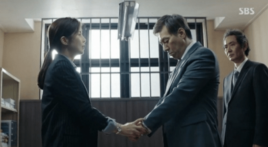 韓国ドラマ「耳打ち(ささやき)」第13話 逮捕するシン・ヨンジュ