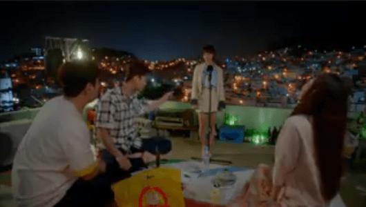 韓国ドラマ「サム、マイウェイ」8話 アナウンサーの練習をするチェ・エラ