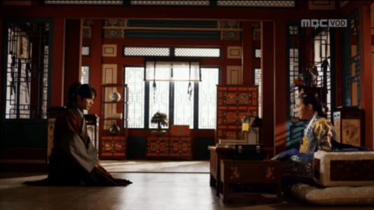 「君主(クンジュ)~仮面の主人~」第8話 王后と話すイ・ソン