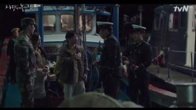 [愛の不時着] 第4話 言い訳する船長