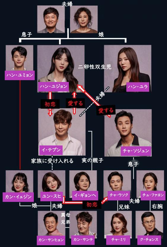韓国ドラマ「秘密の男」人物相関図