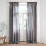 Pencil Pleat Linen Curtains 100 Stonewashed Linen