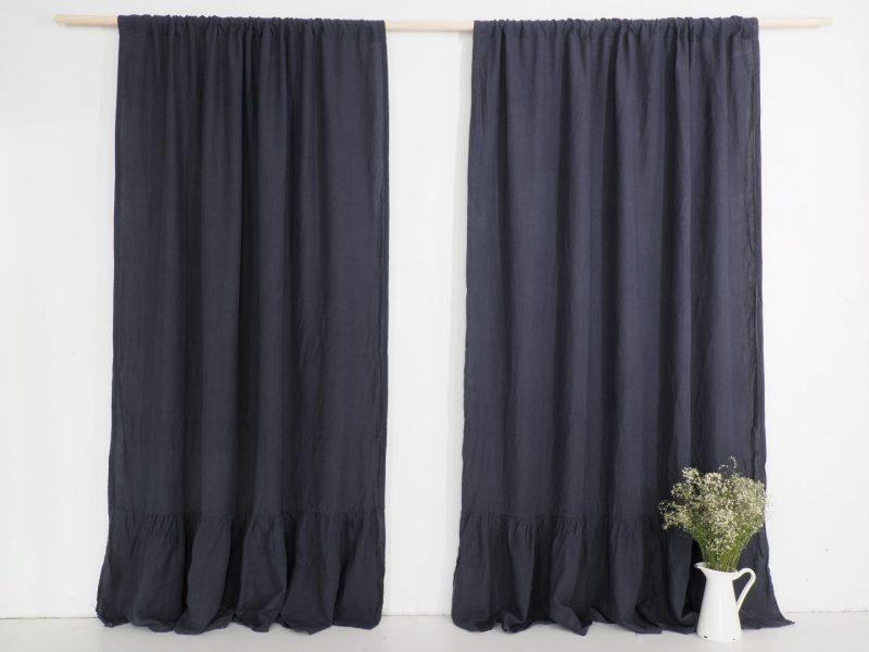 scandinavian style linen curtains