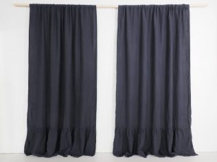 scandinavian style linen curtains